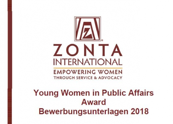 Ywpa 2018 Bewerbungsunterlagen Zonta In Deutschland